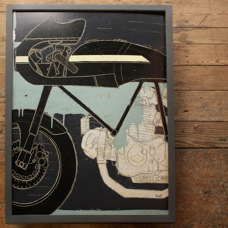 "Leggero Los Angeles  25"" x 33"" Oil, graphite and wax on panel."